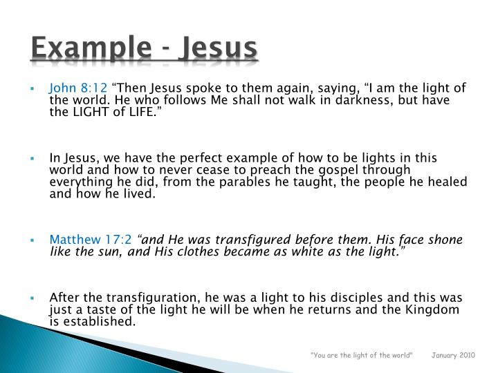 Example - Jesus