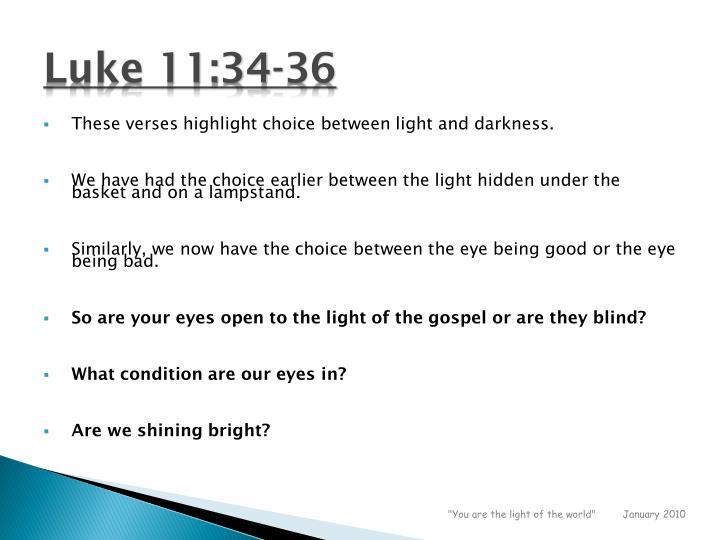 Luke 11:34-36