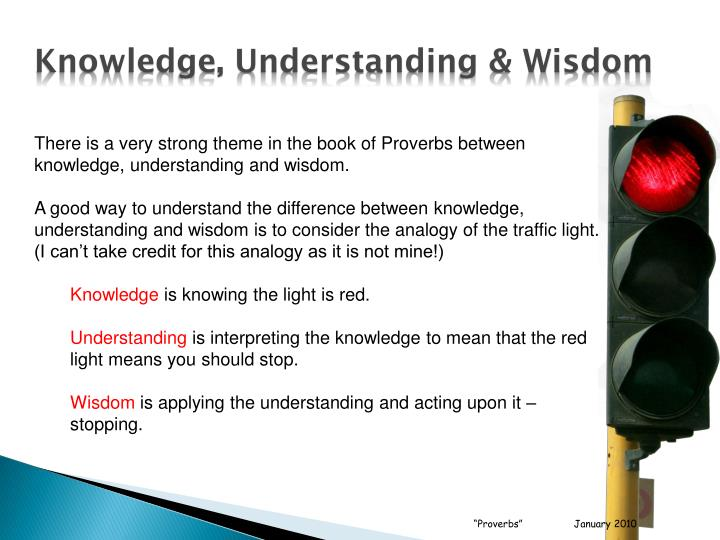 Knowledge, Understanding & Wisdom