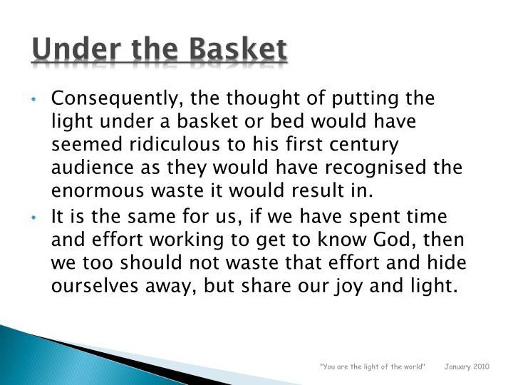 Under the Basket