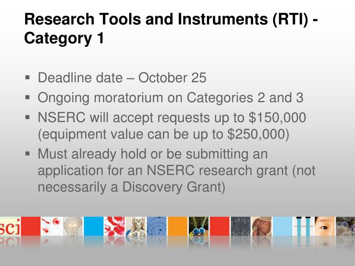 Research Tools and Instruments (RTI) -