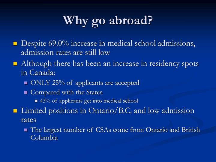 Why go abroad?