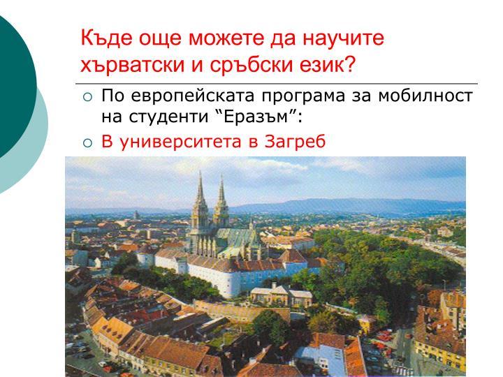 Къде още можете да научите хърватски и сръбски език?