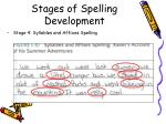 stages of spelling development4