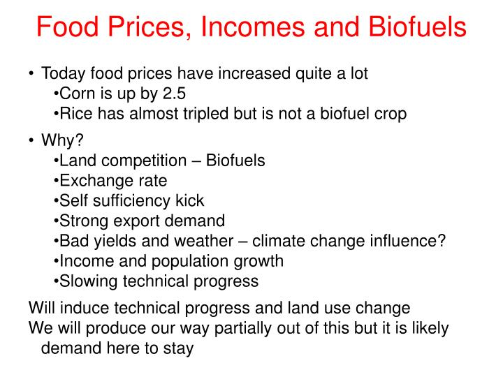 Today food prices have increased quite a lot