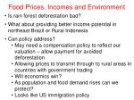 food prices incomes and environment