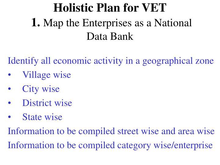 Holistic Plan for VET