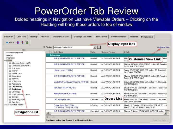 PowerOrder Tab Review