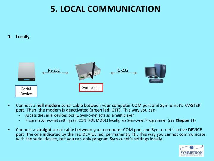 5. LOCAL COMMUNICATION
