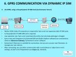 6 gprs communication via dynamic ip sim