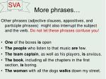 more phrases