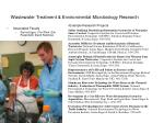 wastewater treatment environmental microbiology research