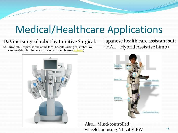 Medical/Healthcare Applications