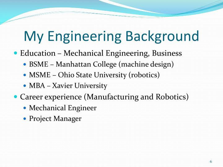 My Engineering Background