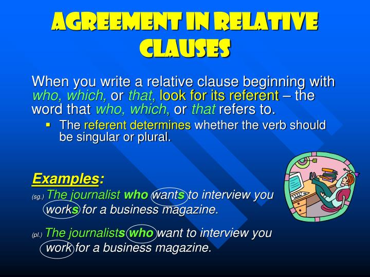 Agreement in relative clauses