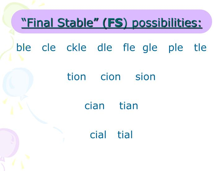 """Final Stable"" ("