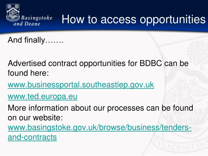 How to access opportunities