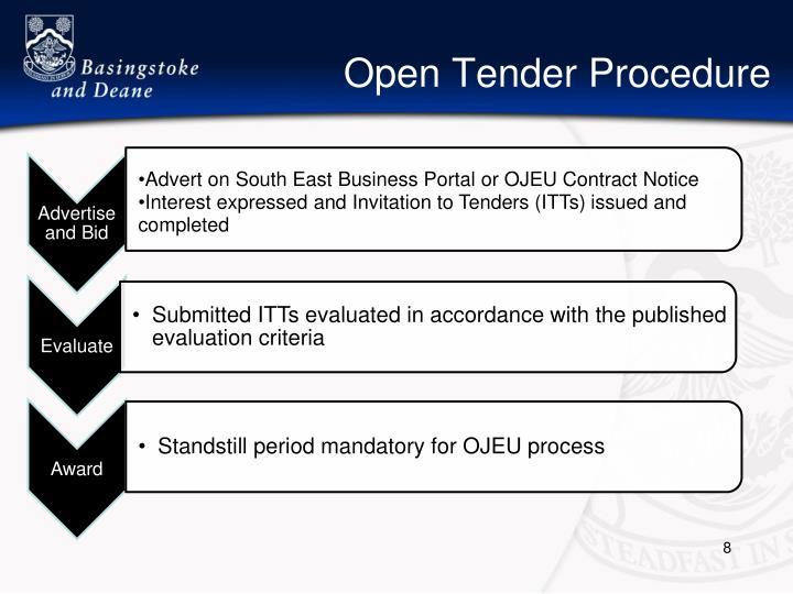 Open Tender Procedure