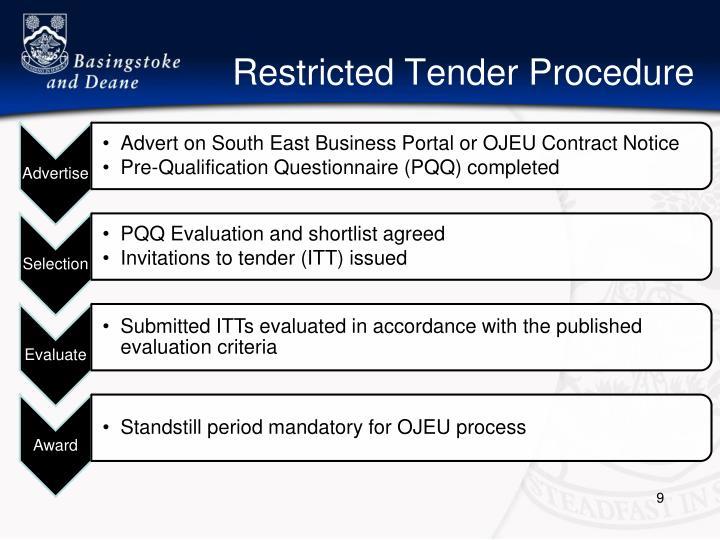 Restricted Tender Procedure
