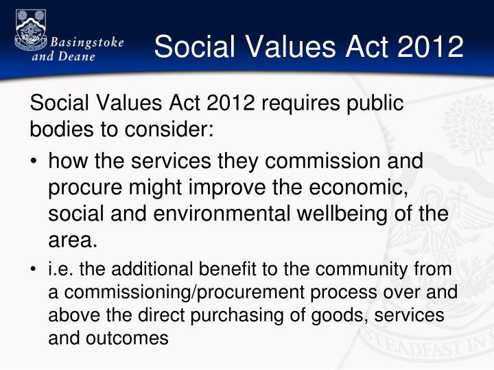 Social Values Act 2012