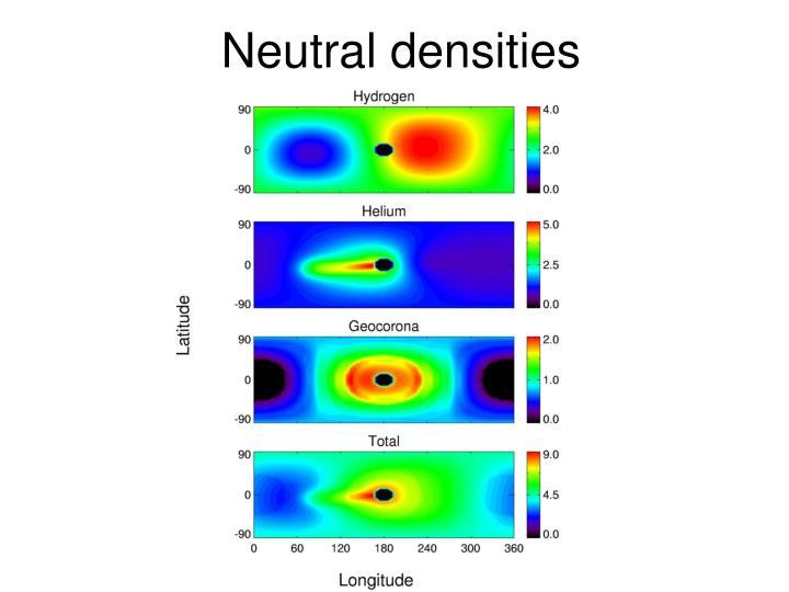Neutral densities