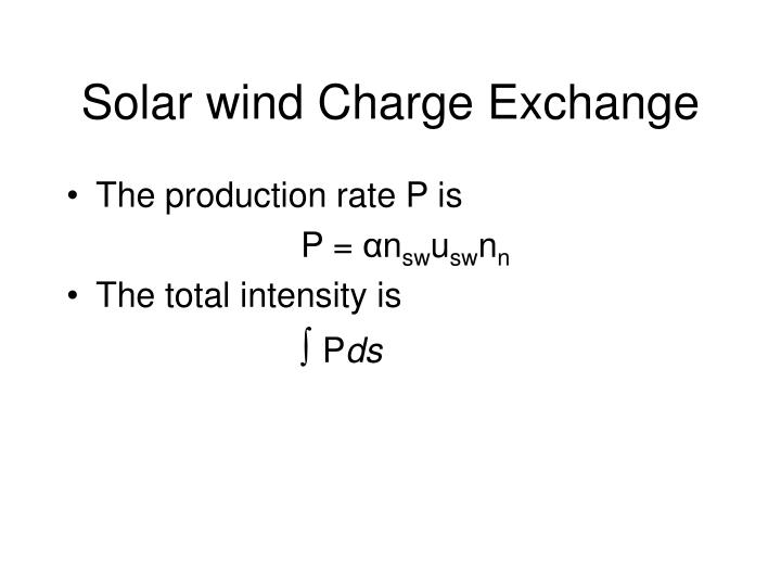 Solar wind Charge Exchange