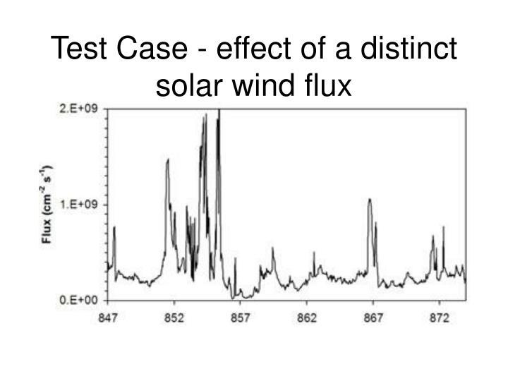 Test Case - effect of a distinct