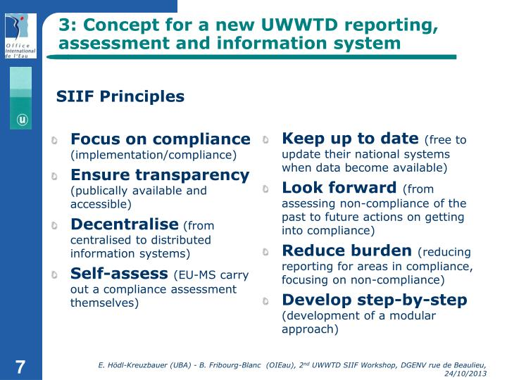 3: Concept for a new UWWTD reporting, assessment and information system