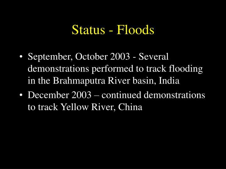 Status - Floods