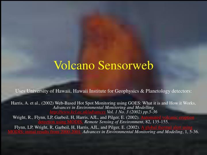 Volcano Sensorweb