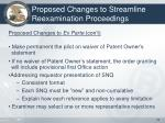 proposed changes to streamline reexamination proceedings2