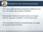 standard for inter partes reexamination2