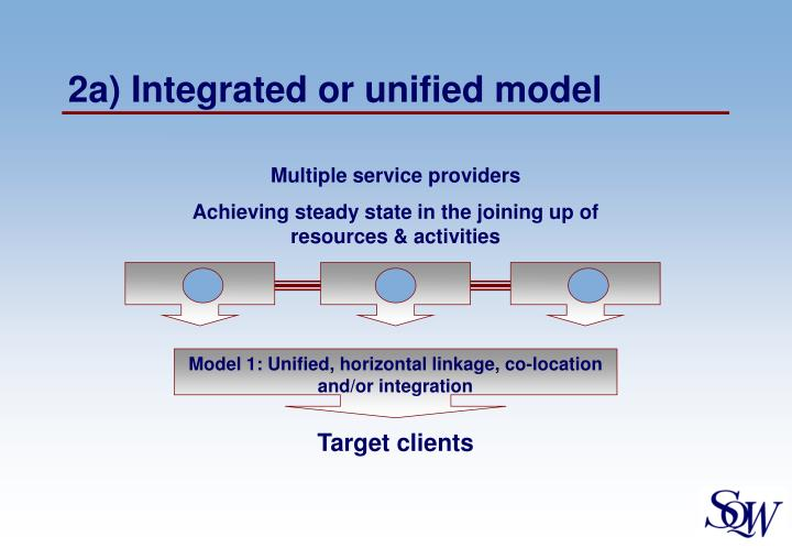 2a) Integrated or unified model