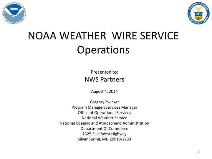 noaa weather wire service operations