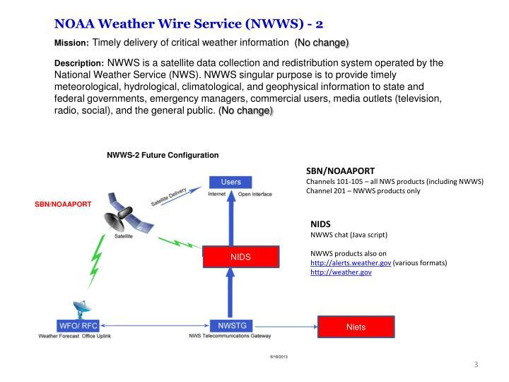 NOAA Weather Wire Service (NWWS) - 2