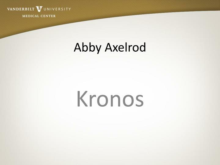 Abby Axelrod