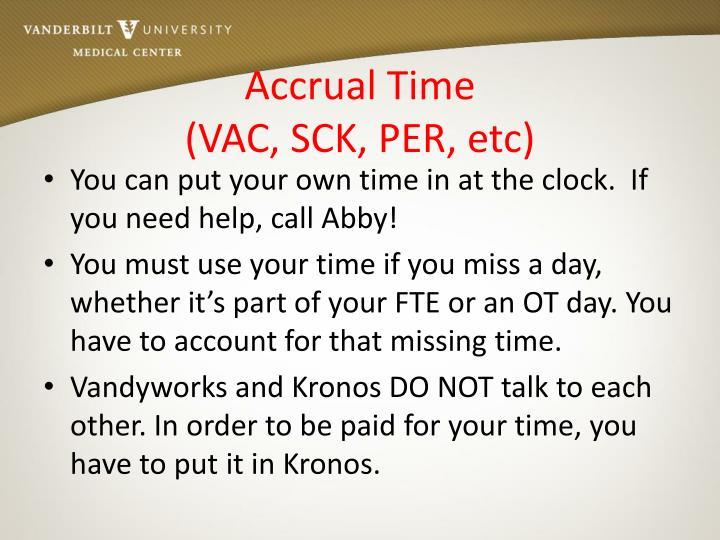 Accrual Time