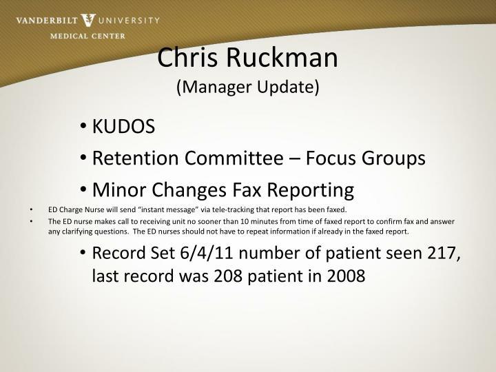 Chris Ruckman