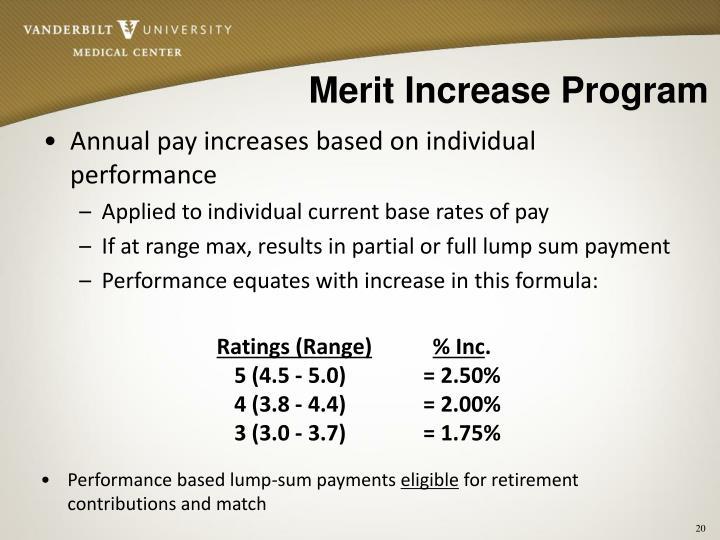 Merit Increase Program