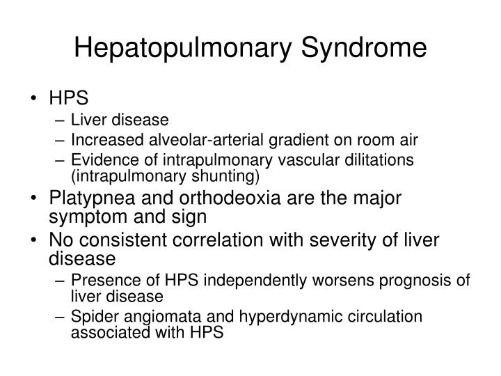 Hepatopulmonary Syndrome