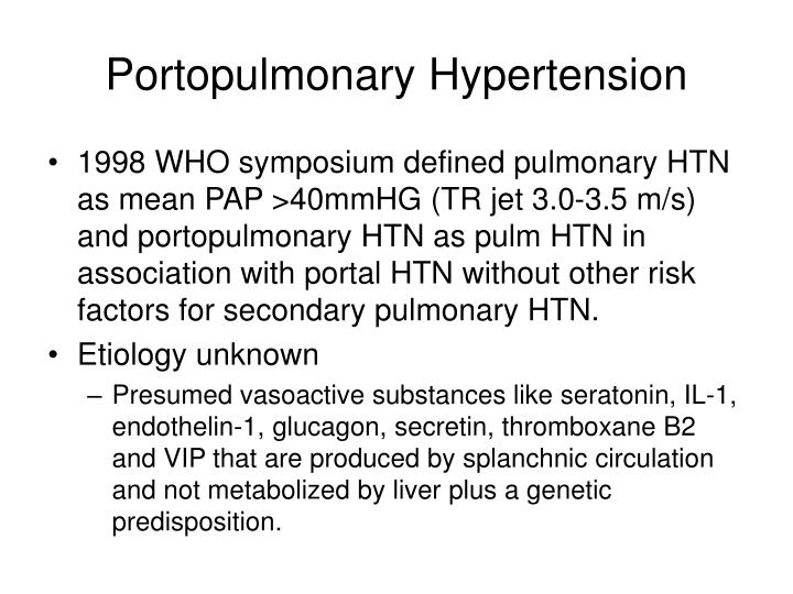 Portopulmonary Hypertension