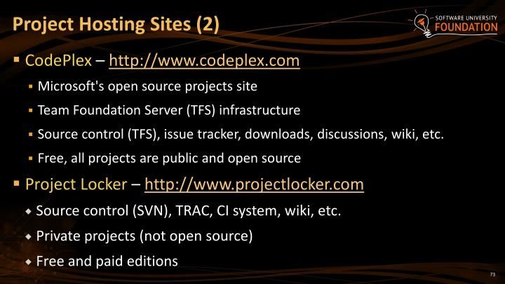 Project Hosting Sites (2)