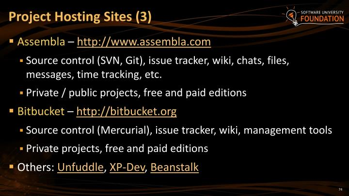 Project Hosting Sites (3)