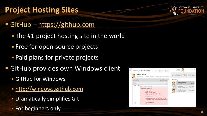 Project Hosting Sites