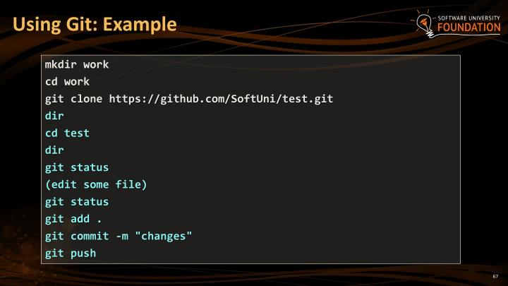 Using Git: Example