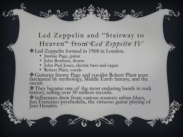 """Led Zeppelin and """"Stairway to Heaven"""" from"""