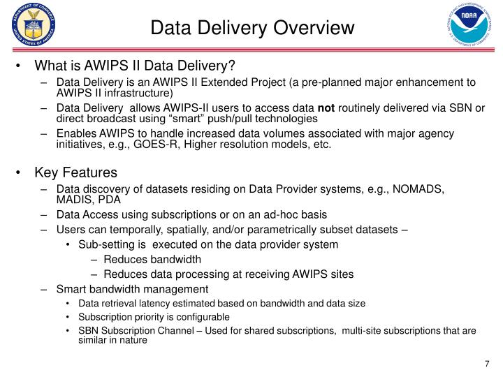 Data Delivery Overview