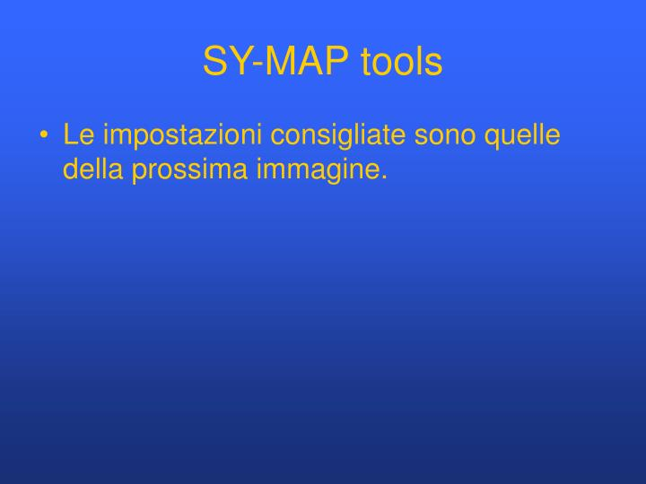 SY-MAP tools