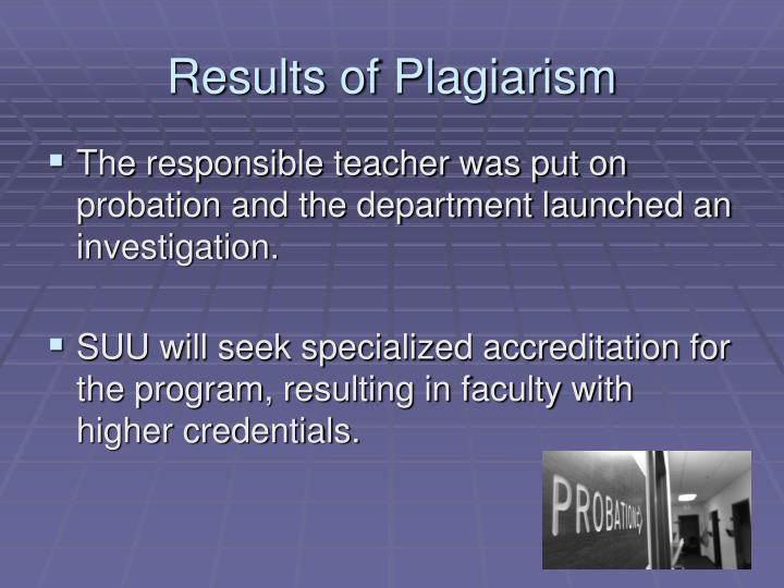 Results of Plagiarism