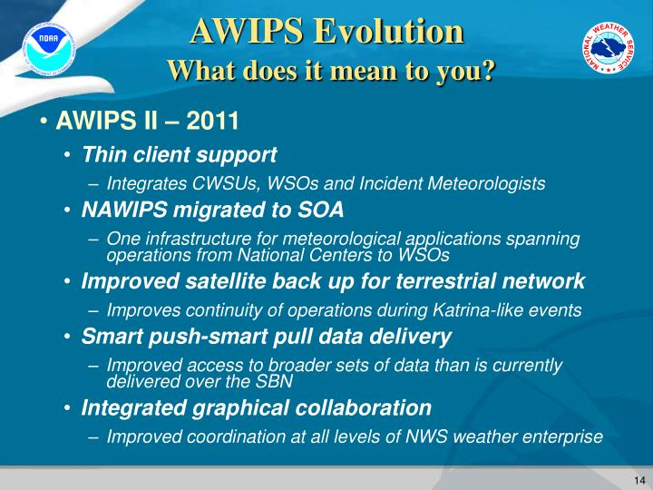 AWIPS Evolution